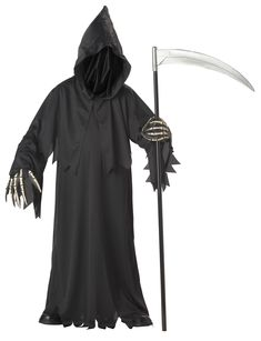 Grim Reaper Deluxe with Vinyl Hands Child Costume from Buycostumes.com