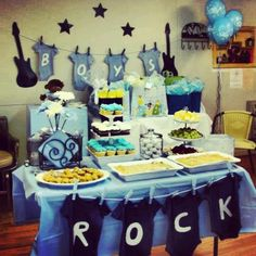 This is an example of something we can do but change the colors to Greens instead of Blue for the Little Rock Star theme we are doing.