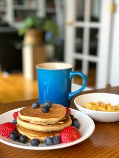 Whole Wheat Pancakes, Homemade, Cooking, Breakfast, Food, Kitchen, Morning Coffee, Kochen, Home Made