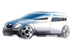 Pic of the Day 599 Sketch of the 2003 Skoda Roomster Concept by Peter Wouda