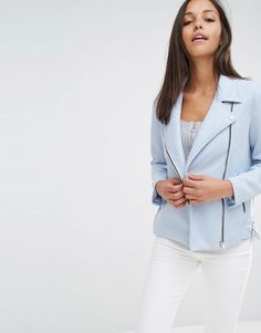 Buy it now. Missguided Suedette Bonded Biker - Blue. Biker jacket by Missguided, Smooth woven outer, Studded lapels, Asymmetric zip fastening, Functional pockets, Regular fit - true to size, Machine wash, 100% Polyester, Our model wears a UK 8/EU 36/US 4 and is 178cm/5'10 tall. ABOUT MISSGUIDED With an eye on the catwalks and hottest gals around, Missguided's in-house team design for the dreamers, believers and night lovers. Taking the risks no one else dares to, its bodycon dresses, crop…