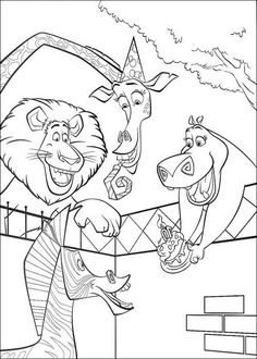 find this pin and more on dulci pictures birthday marty madagascar coloring pages