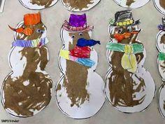 Make sandy snowmen w
