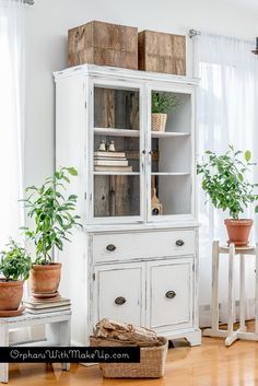 China cabinet makeover with Stikwood — Orphans With MakeUp