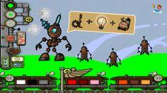 """Kids plan a robot world with STEAM iPad app """"Sendy: Steam-paint Kids Art"""" by Mrs. Judd's Games. Great for kid robotics ideas! https://itunes.apple.com/us/app/sendy-steam-paint-kids-art/id580983785?mt=8"""
