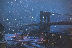 Brooklyn bridge in the winter