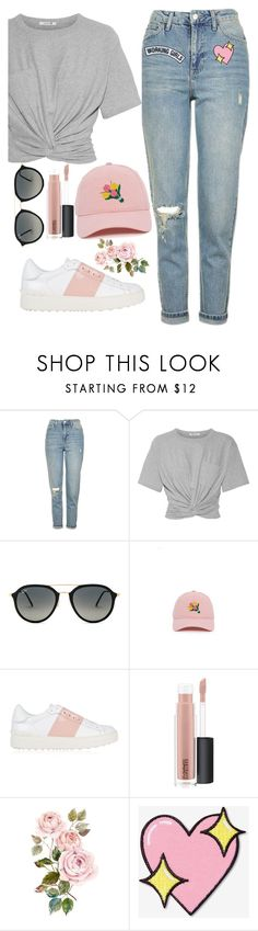 """""""Untitled #1762"""" by mihai-theodora ❤ liked on Polyvore featuring Topshop, T By Alexander Wang, Ray-Ban, Valentino, MAC Cosmetics, Big Bud Press and Working Girls"""