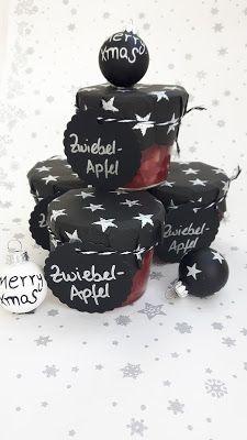 Zwiebelmarmelade weihnachtlich verpackt das perfekte Weihnachtsgeschenk aus der Küche
