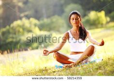 Photo about Yoga woman on green grass in lotus pose. Image of beautiful, people, health - 15747880 Combattre Le Stress, Work Stress, Silva Method, Natural Remedies For Stress, Lotus Pose, Green Grass, How To Relieve Stress, So Little Time, Yoga Poses