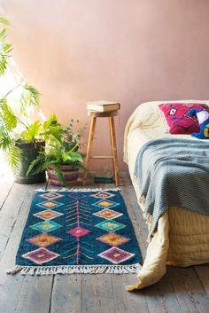 Aderfi Mallard Blue 100% Recycled Cotton Rug                      – Ian Snow Ltd Dining Room Shelves, Living Room Storage, Dining Rooms, Front Room Furnishings, Berber Rug, Mallard, Cushion Covers, Blue Bird, Recycling