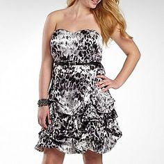 Ruby Rox Printed Strapless Dress, Plus - jcpenney