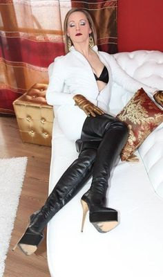 my fetish treasury Leather High Heel Boots, Black High Boots, Thigh High Boots Heels, Hot High Heels, Heeled Boots, Leather Fashion, Fashion Boots, Crotch Boots, Lady Ann