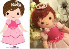 boneca de feltro para boneca digital