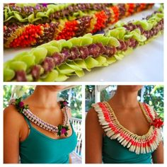 Micronesian ginger and Crown flower leis