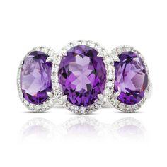 Rosendorff Amethyst and Diamond Ring
