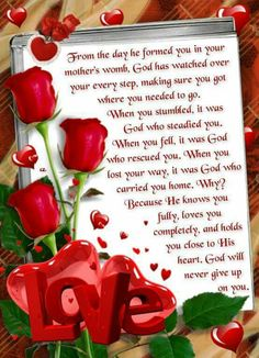 From the day he formed you in your mother& womb, God has watched over your Psalms Quotes, Prayer Quotes, Faith Quotes, God's Heart, Card Sentiments, Love Is In The Air, Prayer Board, Faith Prayer, Morning Prayers
