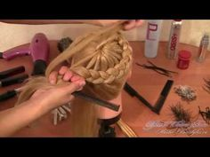 Плетение кос - простая прическа с косой вокруг головы - YouTube