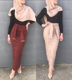 Muslim Women Fashion, Islamic Fashion, Street Hijab Fashion, Abaya Fashion, Hijab Outfit, Modesty Fashion, Fashion Outfits, Hijab Stile, Sunday Outfits
