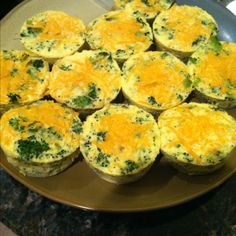 "Egg muffins - good source of protein in a ""to go"" form :) 1 point plus on WW (made with egg white substitute)"
