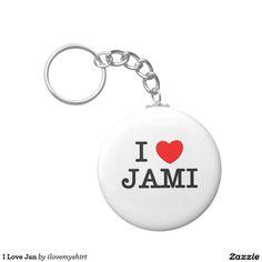 I Love Jan Basic Round Button Keychain