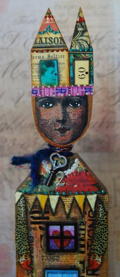 Altered Art Doll  Soul Space by desertdreamstudios on Etsy