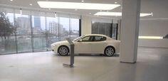 #gietvloer in een auto #garage. Omdat een gietvloer daar heel geschikt voor is!
