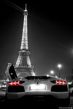 Lamborghini and Eiffel Tower...cool