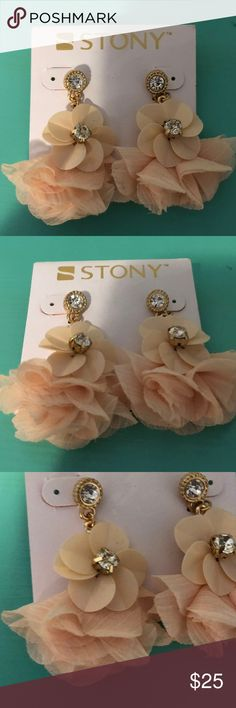NWT! Stony Earrings Pastel Color NWT! Stony Earrings Pastel Color. This would look great in any occasion this color is so cute!!! Stony Jewelry Earrings