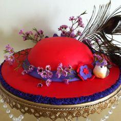 Chocolate Lava Red Hat Ladies Society Birthday Cake
