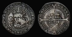 Tudor Antique Coin, Edward VI Silver Sixpence Coin 1551, Old, English, British, Only son of Henry VIII