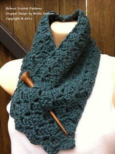Tulip stitch crocheted scarf