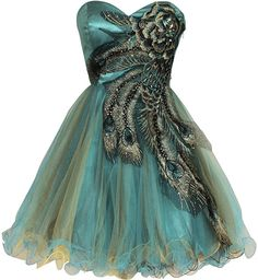 Metallic Peacock Holiday Party Prom Dress Junior Plus Size X-Large Turquoise