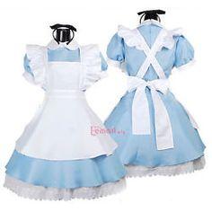 Azul/blanco criada Traje Princesa Auto Show Cosplay Disfraz Vestido De Lujo W16