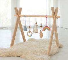 The Babys, Baby Room Design, Baby Room Decor, Wooden Feather, Play Gym, Baby Play Mat Gym, Wood Baby Gym, Diy Baby Gym, Baby Ruth