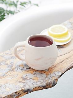 Marble Tea Mug | Beautiful marble designed ceramic tea mug.  American made