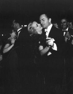 Carole Lombard dancing with ex-husband William Powell at Ciro's nightclub, 1940