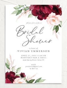 Colorful Wedding Invitations, Passport Wedding Invitations, Wedding Shower Invitations, Printable Wedding Invitations, Floral Invitation, Floral Wedding Invitations, Wedding Stationery, Invitation Wording, Invitation Ideas
