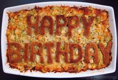 Make a birthday dinner fit for a king or a queen with this Happy Birthday Entree - Chicken, Artichoke, and Three Cheese Bread Pudding! This savory meal will surprise your special someone and make their special day even better. Easy Sandwich Recipes, Easy Rice Recipes, Mug Recipes, Cookbook Recipes, Baby Food Recipes, Chicken Recipes, Delicious Recipes, Recipies, Happy Birthday Chicken