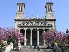 St Vincent de Paul, Paris - with Greek temple portico - architect: Hittorff