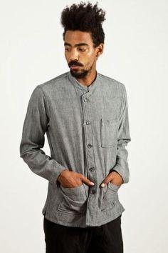 Engineered Garments Dayton Shirt Grey Herringbone