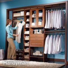Build a Low Cost Custom Closet - Summary: The Family Handyman Closet Drawers, Closet Storage, Closet Organization, Storage Room, Wardrobe Storage, Storage Drawers, The Family Handyman, Diy Custom Closet, Custom Closets
