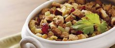 Some might say stuffing is the best part of a feast.  Try this version for an aromatic treat.