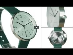 The Drumline watch by Newgate Watches. A minimalist steel watch with gre...