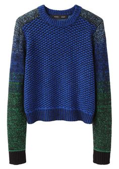 Proenza Schouler Cropped Ombre Pullover