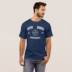 #school - #South Dakota Baseball Retro Logo T-Shirt