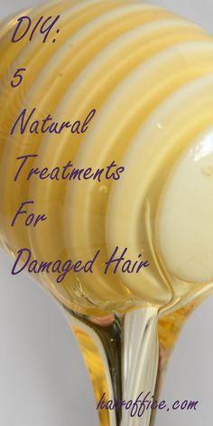 DIY: 5 Natural Treatments for Damaged Hair
