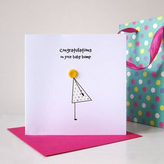 'Baby Bump' Congratulations Card