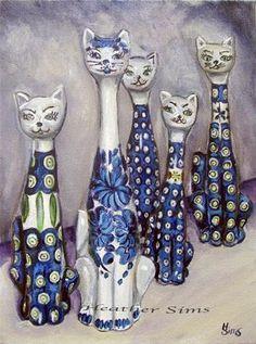 """Cats: Polish Pottery LI""  © Heather Sims"