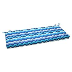Outdoor Seat Pillow Perfect Bench Cushion - Blue/Off-White (Blue/Beige)