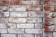 PREVENT STAINING |  Efflorescence builds up wherever water touches brick or concrete. |  PHOTO:  brick covered in the white, flaky powder or mineral salt known as efflorescence